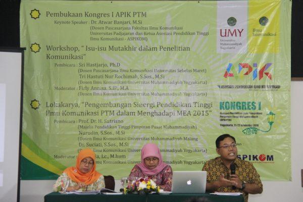 Tri Hastuti NR, M.Si dari UMY; Firly Annisa, M.A dari UMY; serta Sri Hastjarjo, Ph.D dari UNS
